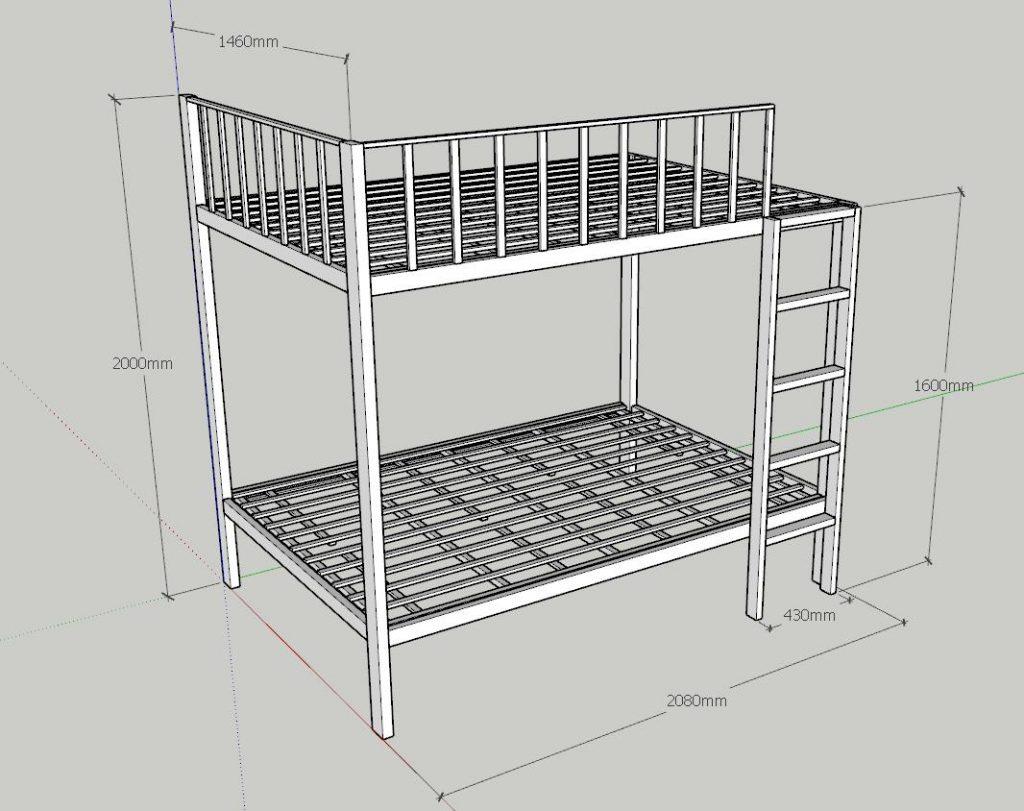 Làm giường tầng sắt tại đà nẵng 0974480518