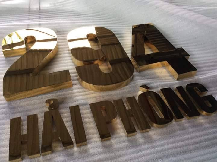 thi công làm chữ nổi inox bảng hiệu quảng cáo tại đà nẵng