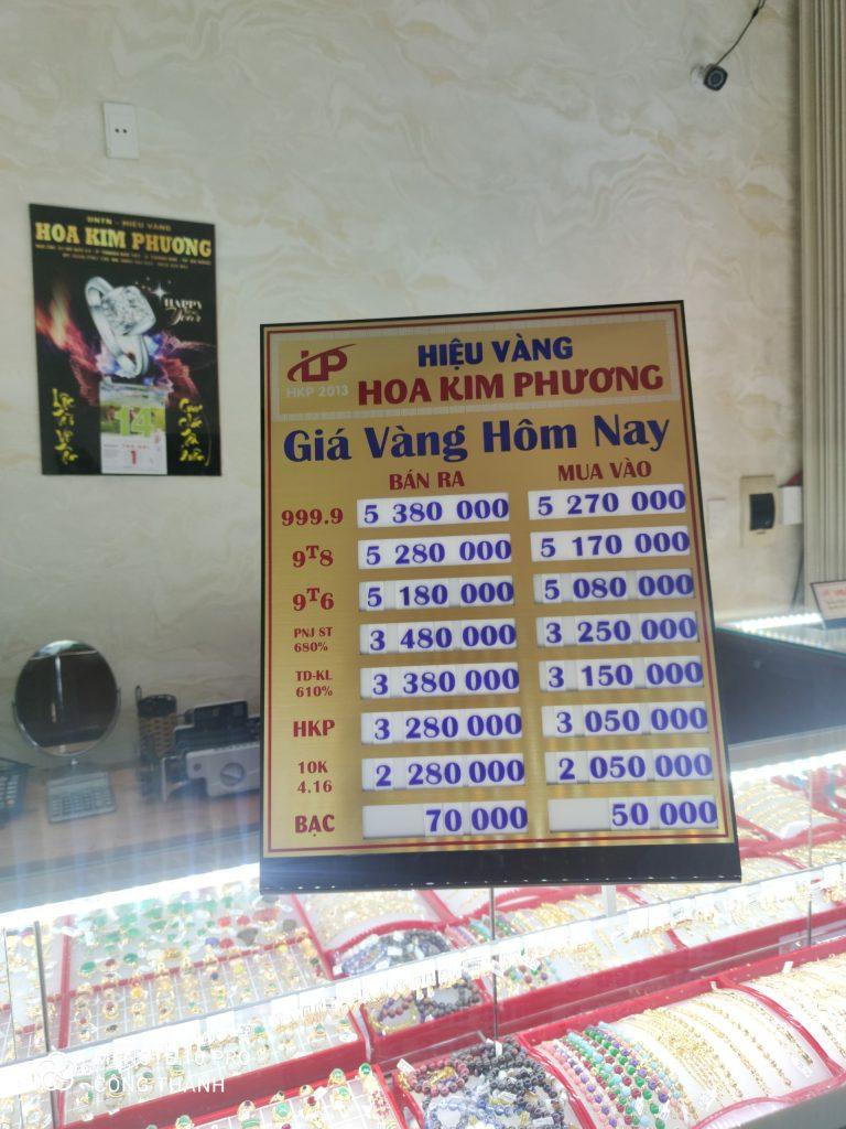Làm bảng hiệu tiệm vàng bạc đẹp tại Đà Nẵng LH: 0974480518