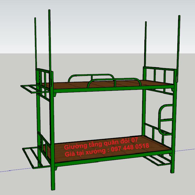 Thiết kế làm giường tầng sắt quân đội tại Đà Nẵng LH: 097 448 0518