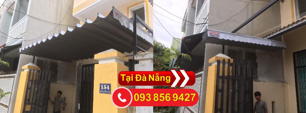 Hoàng thiện lắp đặc mái hiên mái kéo bạt xếp giá rẻ tại Đà Nẵng